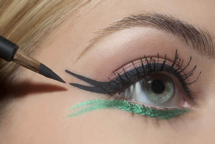 pomalowane oko